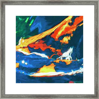Framed Print featuring the painting Tidal Forces by Dominic Piperata