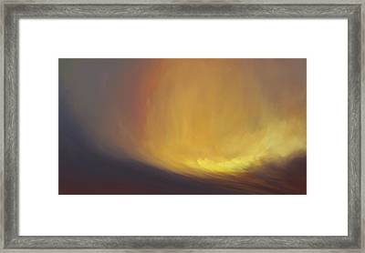 Tidal Haze Framed Print by Lonnie Christopher