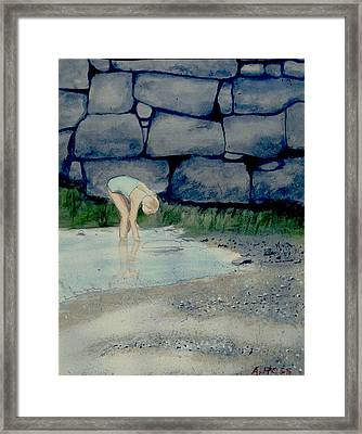 Tidal Pool Treasures Framed Print by Anthony Ross