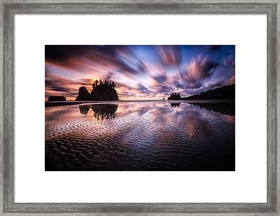 Tidal Reflection Serenity Framed Print