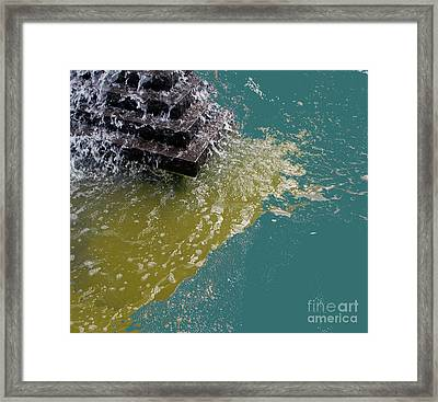 Framed Print featuring the photograph Tidal Stand Off by Bill Thomson