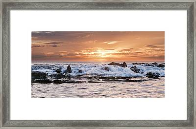 Framed Print featuring the photograph Tidal Sunset by Heather Applegate