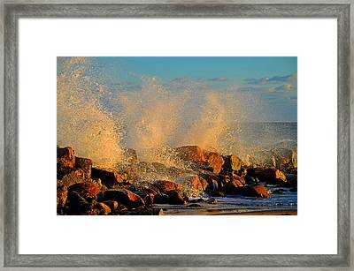 Tidal Surge - Cape Cod Bay Framed Print by Dianne Cowen