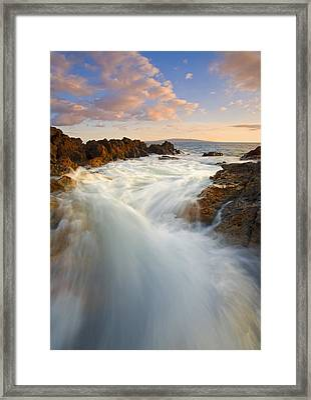 Tidal Surge Framed Print by Mike  Dawson