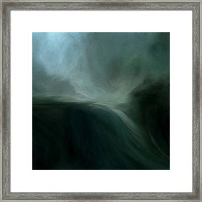 Tidal Wave Framed Print by Lonnie Christopher