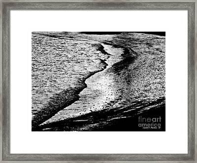 Tidal Wave Reaching For The Shoreline Framed Print by Carol F Austin