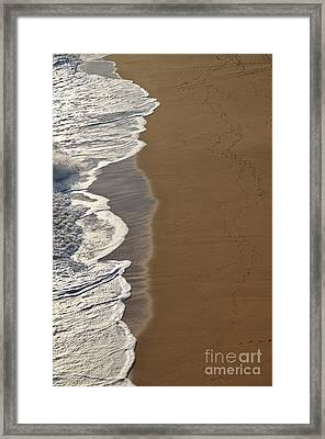Tidal Waves In Lagoa Framed Print by Angelo DeVal