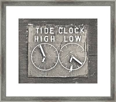 Tide Clock Framed Print by Tom Gowanlock