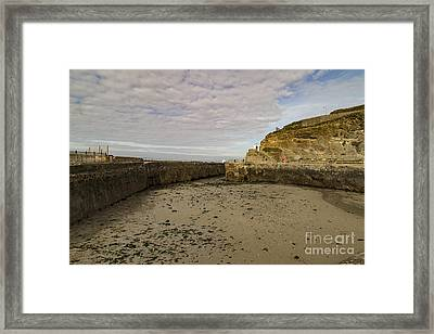 Framed Print featuring the photograph Tide Out Portreath by Brian Roscorla