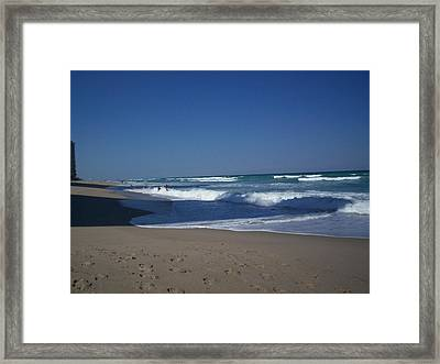 Tide Play Framed Print by Karen Thompson