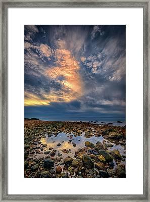 Tide Pool At Montauk Point Framed Print by Rick Berk