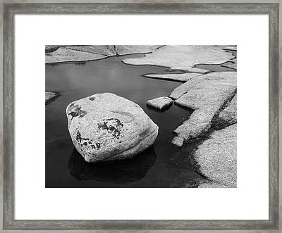 Tide Pool Boulder Framed Print