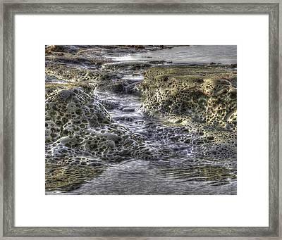 Tide Pool Waterfall Framed Print