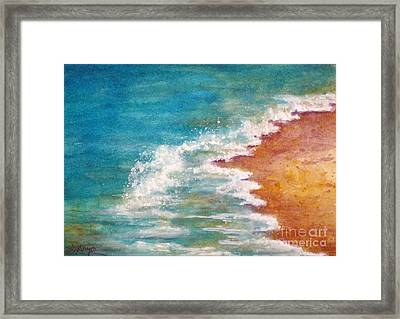 Tide Rushing In Framed Print