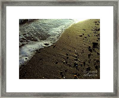 Tide Framed Print by Silvie Kendall