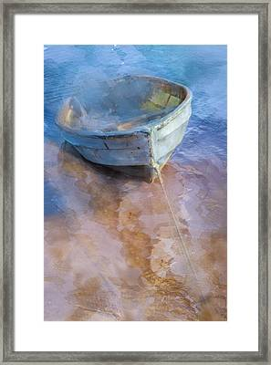Tide Up At The Shore Framed Print by Debra and Dave Vanderlaan