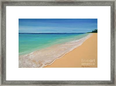 Tide Washing In Framed Print