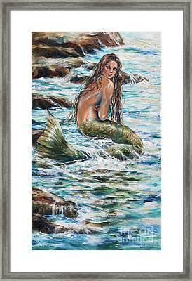 Tidepool Framed Print by Linda Olsen