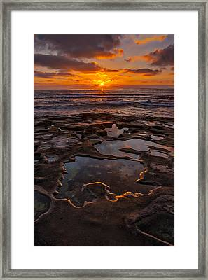Tidepools At La Jolla Framed Print by Peter Tellone