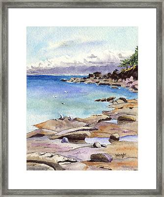 Tides Out At Tribune Bay On Hornby Island Framed Print by Wendy Mould