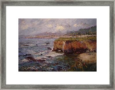 Tidewater On The Cliffs II Framed Print by R W Goetting