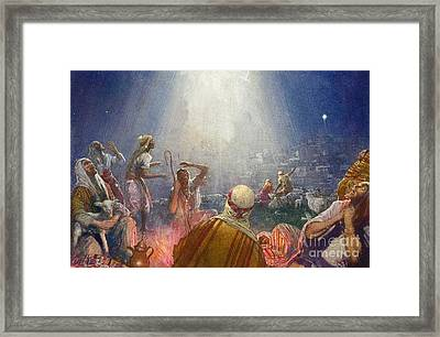 Tidings Of Great Joy Framed Print by John Millar Watt