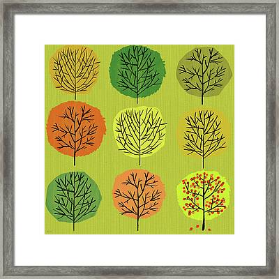 Tidy Trees All In Pretty Rows Framed Print