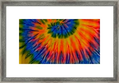 Tie Dye Framed Print by Dennis Dugan