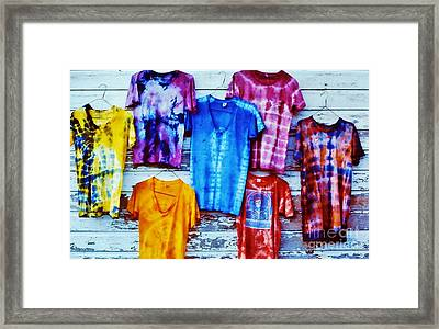 Grateful Dead Tie Dye Framed Print by Susan Carella