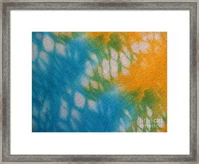 Tie Dye In Yellow Aqua And Green Framed Print by Anna Lisa Yoder