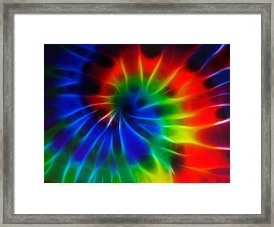 Tie Dye Framed Print by Lynne Jenkins