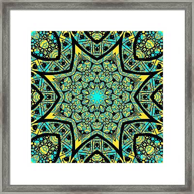 Tie Dye Zia Framed Print
