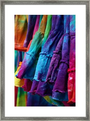 Tie Dyed  Framed Print