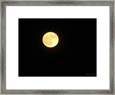 Tie Dyed Orange Moon Framed Print