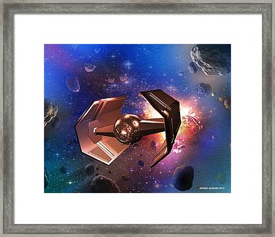 Tie-fighter Framed Print