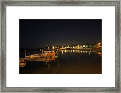 Framed Print featuring the photograph Tied Up For The Night by Greg DeBeck