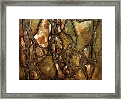Tied Up In Knots Abstract Framed Print by Georgiana Romanovna