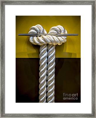 Tied Up In Knots Framed Print by James Aiken