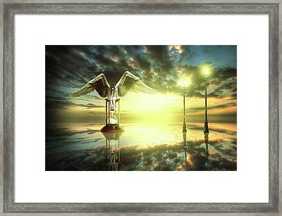 Framed Print featuring the digital art Time To Reflect by Nathan Wright