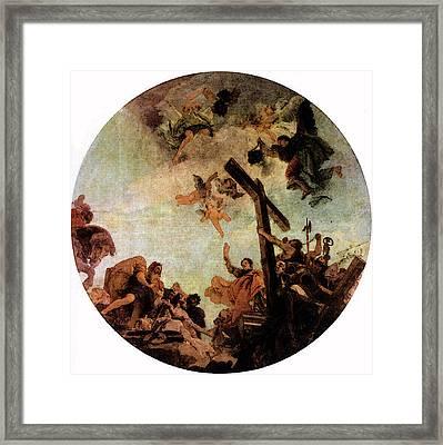 Tiepolo Discovery Of The True Cross Framed Print by Giovanni Battista Tiepolo