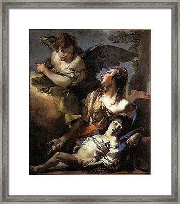 Tiepolo The Angel Succouring Hagar Framed Print by Giovanni Battista Tiepolo