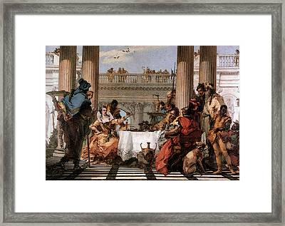 Tiepolo The Banquet Of Cleopatra Framed Print
