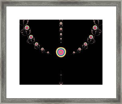 Tiered Necklace Framed Print by Thomas Smith
