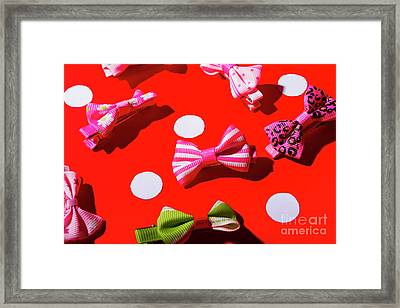 Ties To Fashion Framed Print