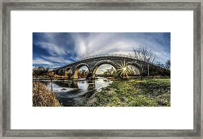 Tiffany Bridge Panorama Framed Print