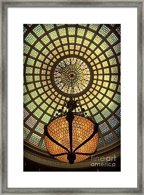 Tiffany Ceiling In The Chicago Cultural Center Framed Print