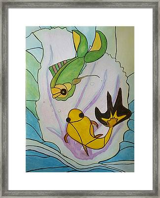 Tiffany H'omage Coral Reef Fish Framed Print by ARTography by Pamela Smale Williams