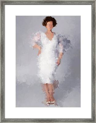 Framed Print featuring the digital art Tiffany by Nancy Levan