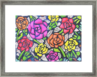 Tiffany Roses Framed Print