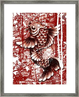 Tiffy Koi Framed Print by Michael Figueroa